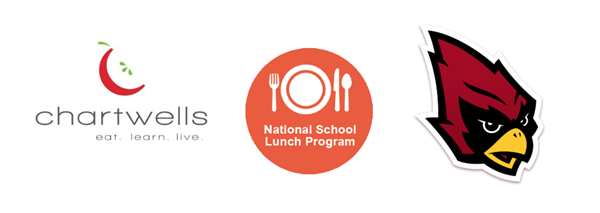 Chartwells, National School Lunch Program, and Portland Schools Logos